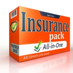 47421752 - insurance orange pack concept on white background. clipping path included